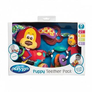Juguete Bebe Mordillo Colgante Puppy Teether Pack Playgro