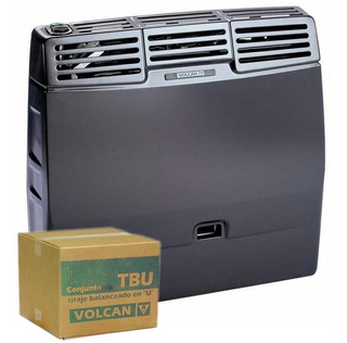 Calefactor Tbu Vertical Tiraje U 5700 Calorias Volcan - Gas Natural - Garatia Oficial