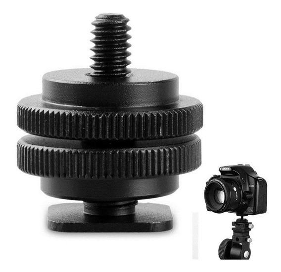Parafuso Adaptador Sapata Canon Nikon Rosca 1/4 Macho