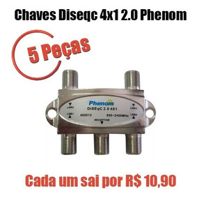 5 Chaves Diseqc 4x1 2.0 Phenom