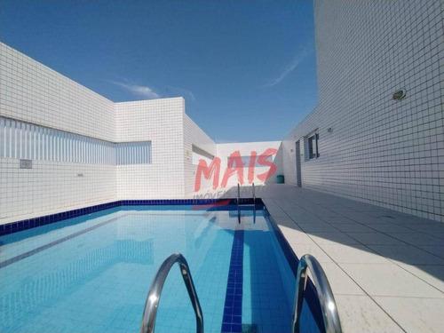 Apartamento Com Vista Livre E Lazer Completo, 3 Dormitórios Para Alugar, 118 M² - Aparecida - Santos/sp - Ap5876