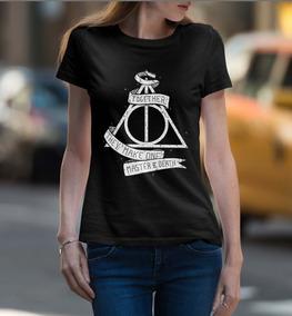 Baby Look Feminina Harry Potter Reliquias Da Morte 100% Alg