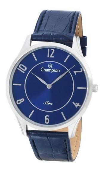 Relógio Champion Masculino Analógico Couro Ca21759a
