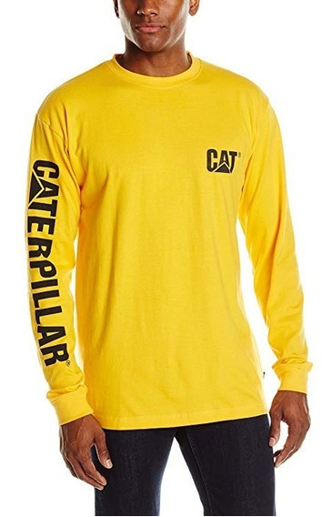 Playera Manga Larga Para Caballero Caterpillar Cat