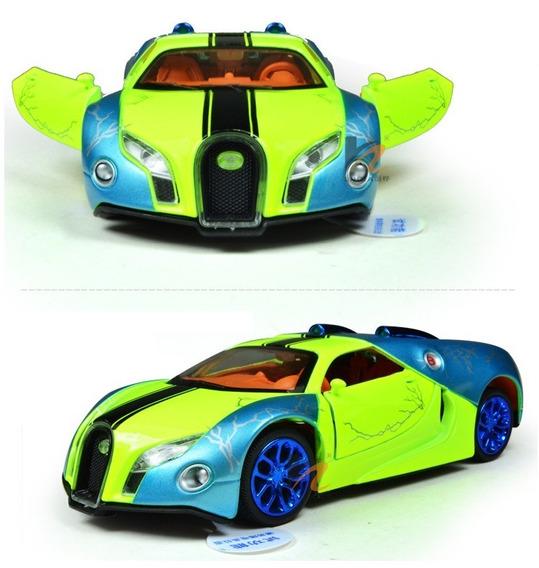 Uma Joia De Miniatura Bugatti Escala 1/32 Acende Farois, Som