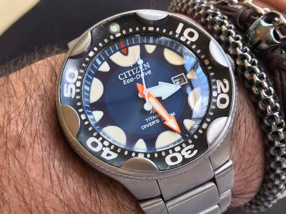 Citizen Orca Eco-drive Titanium Divers 200m Cal E168 Japan