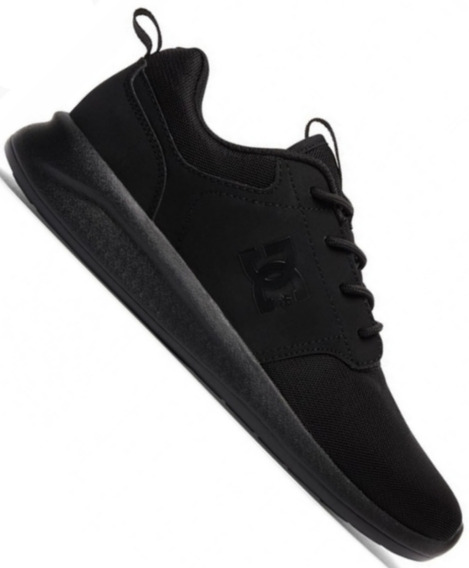 Zapatillas Dc Midway Sn Vn (blk) Negro Skate