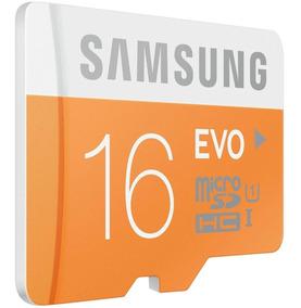 Cartão Micro Evo Tf 16gb Samsung Celular Top
