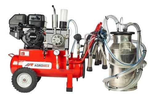 Imagen 1 de 9 de Máquina Ordeñadora Para Dos Vacas Motor A Gasolina Agromex