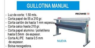 Guillotina Manual Rowe 59