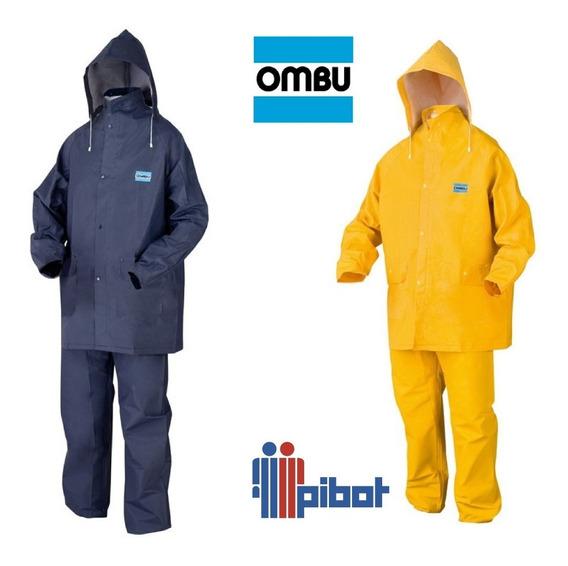 Traje De Lluvia Capa Y Pantalon Equipo Moto Ombu Impermeable