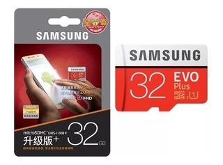 Micro Samsung 32gb Evo Plus+adaptador Sd Y Usb