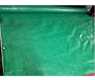 Cubre Cerco De Rafia Verde C/ojales 1.85x10 Mts + Precint