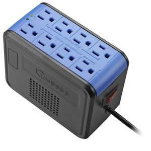 Regulador De Voltaje Quasad 8 Tomas 1000w Avr Pc Tv Laptop