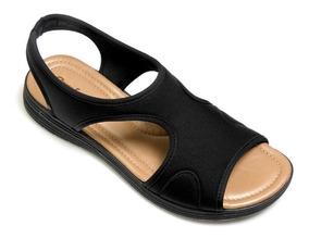Sandalia Comfortflex 1851405 Lycra Soft Plus Conforto Total