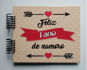 Álbum Scrapbook - Feliz Um Ano De Namoro - Fls P