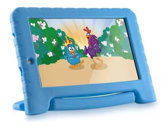 Tablet Galinha Pintadinha Multilaser Kids + Capa De Borracha