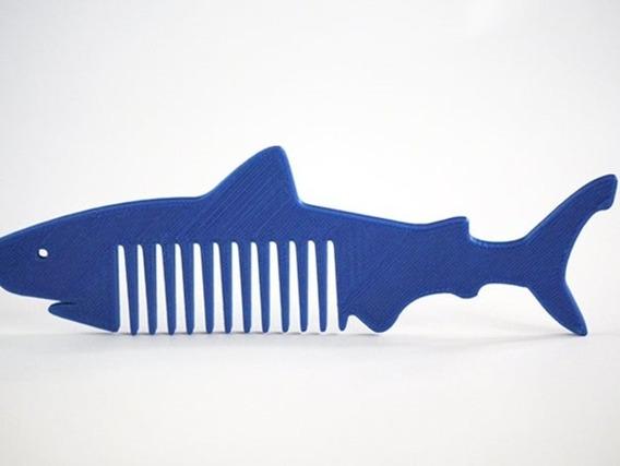 Pente Tubarão Infantil Cabeleireiro Barbeiro 1 Pç