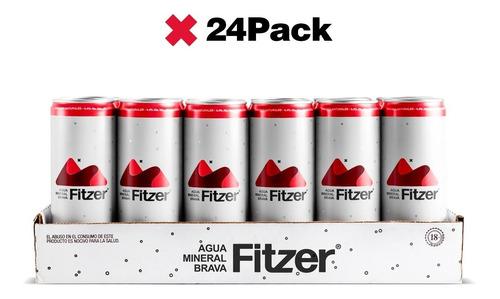 Fitzer Agua Mineral Brava: 24pck, Hard Seltzer, Frutos Rojos