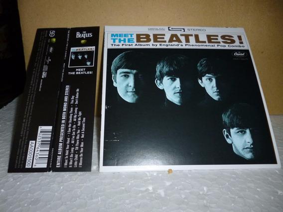 Cd Beatles - Meet The Beatles 2014 - Tipo Minivinil Nacional