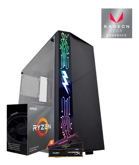 Pc Gamer Amd Ryzen 5 3400g, Vega 11 2gb, Ram 8gb, Hd 1tb