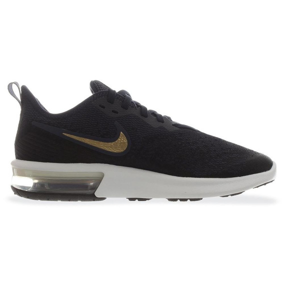 Tenis Deportivo Mujer Nike Air Max Sequent 4 Azul Oscuro 003