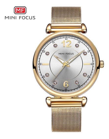Elegante Design Mulheres Relógio De Pulso De Cristal Senhor