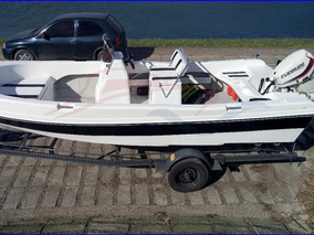 Lancha Fishing 550 Consola Central Motor Mercury 50 Hp Full