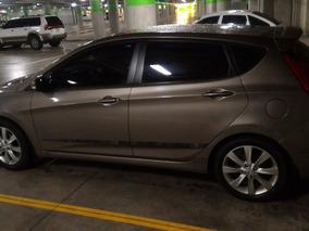 Hyudai Accent Blue Hatchback 2012