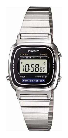 Relógio Casio La670wa-1 Mini Retrô Vintage Data Crono Timer