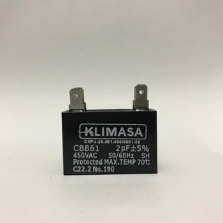 Capacitor P/ Ventilador Ar Cond 2uf X 450vac +- 5% Cbb61
