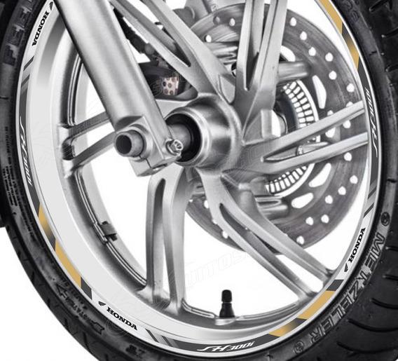 Friso Adesivo Refletivo D4 Roda Moto Honda Sh 300 I
