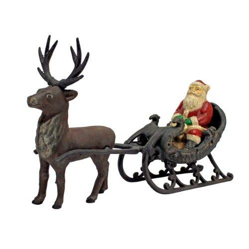 Decoraciones De Navidad Santa Claus En Trineo Con Renos De N