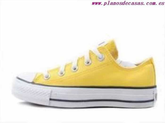 Zapatillas Converse Plataforma Ox Color Amarillas