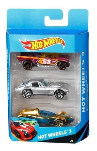 Kit 3 Carros Colecionáveis K5904 Hot Wheels Mattel