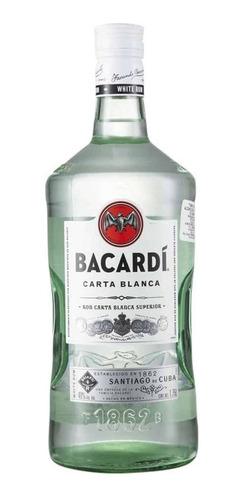 Imagen 1 de 1 de Botella De Ron Bacardi Carta Blanco 1.75l