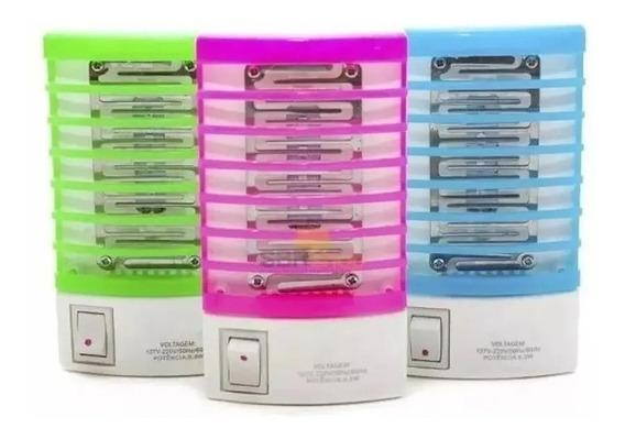 Kit Com 3 Luminária Lâmpada Elétrica Mata Mosquito Armadilha