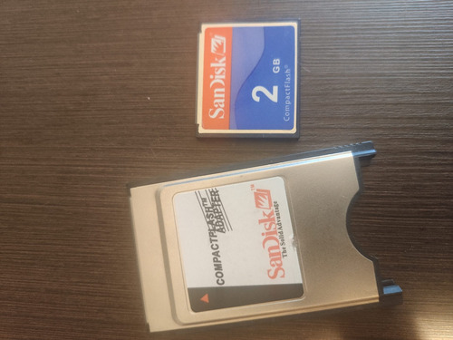 Adaptador Pcmcia + Compact Flash 2gb
