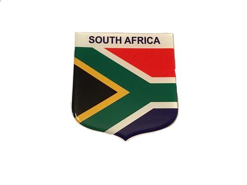Adesivo Resinado Em Escudo Da Bandeira Da África Do Sul