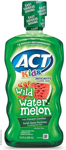 Kids Anticavity Fluoride Rinse Wild Sandía 16.9 Fl. Oz. Dosi