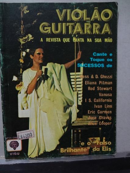Revista Cifras Violão Guitarra Nº 21 Elis Regina E Outros
