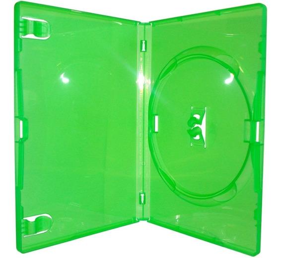 100 Estojos Box Capa Padrão Verde Amaray Videolar Original