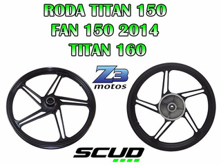 Roda Scud 5p Titan150 Fan150 2014 2015 2016 P.fosco