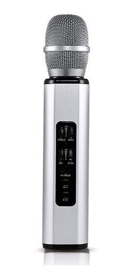 K6 - Micrófono Inalámbrico Para Karaoke, Color Plateado