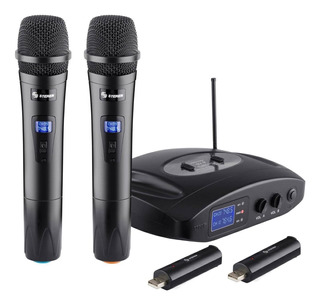 Set de micrófonos Steren WR-810 unidireccional negro
