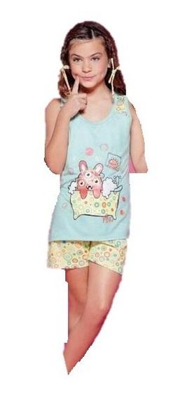 Pijama Nena Musculosa Y Short 8008 So Pink