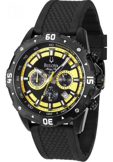 Relógio Bulova Marine Star Sport Preto E Amarelo Wb31738y