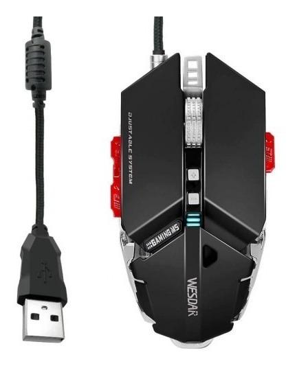 Mouse Gamer Wesdar 4000dpi 10 Botões + Nf E Garantia