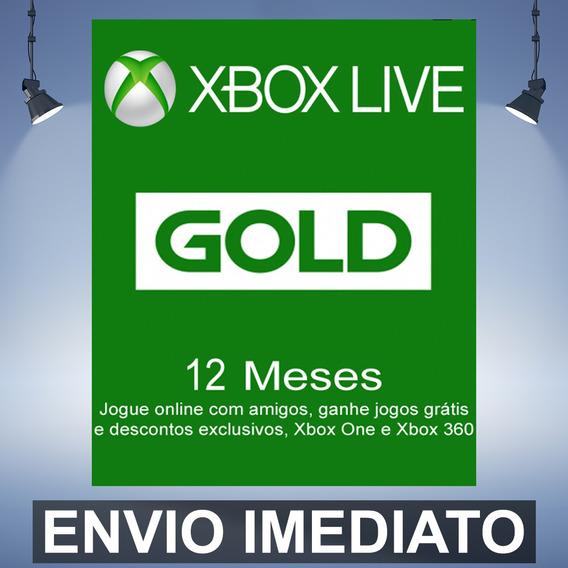 Xbox Live Gold 12 Meses Codigo 25 Digitos Br Envio Imediato