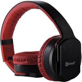 Fone De Ouvido Bluetooth E Caixa De Som 2 Em 1 - Vermelho